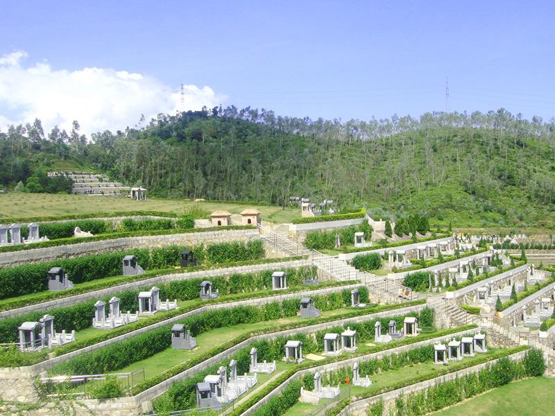 龙山永久墓园-墓区景观